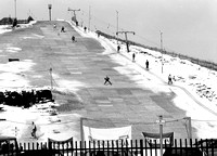 Skiing on Beckton Alps during a spell of snow. 14 February 1991.