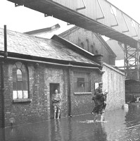 Storm flood at Tate & Lyle, Silvertown. 1948.