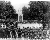 Central Park, East Ham. War Memorial unveiling. 1921.
