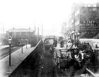 Traffic near Canning Town Station. 1884.