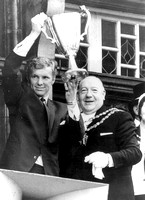 European Cup-Winners Cup. Reception for West Ham United FC. Bobby Moore & Terence McMillan. May 1965.