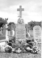 Grave of John Travers Cornwell after the Remembrance Service at Manor Park Cemetery, 12 June 1960.
