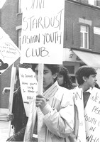Asian Youth Demonstration. East Ham. c1987.