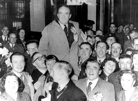 1955 General Election. Elwyn Jones at West Ham Town Hall. 27 May 1955.