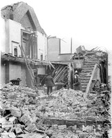Silvertown Explosion 1917. Damage to firemen's dwellings.