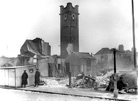 Silvertown Explosion 1917. Remains of Silvertown Fire Station.
