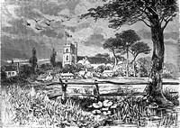West Ham Church. Drawing by Katharine Fry. c1832.