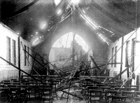 Silvertown Explosion 1917. Damage to St Barnabus church.