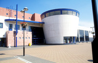 Beckton Globe. Library & Local Service Centre. Opened 1998.
