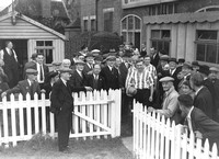 Clapton Football Club return to the Old Spotted Dog Ground. 1943.