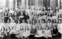 Children at Godwin Road School, Forest Gate.