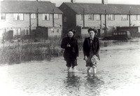Floods in Canning Town. 1953.
