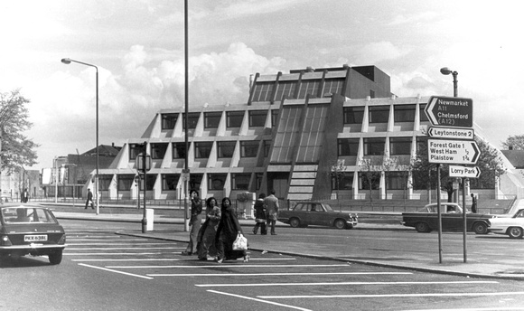 Pyramid Building (Council Offices), The Grove Stratford. 1977.