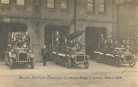West Ham Fire Brigade, Canning Town Station. 1926.