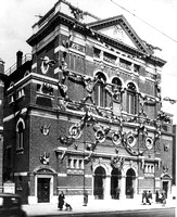 Canning Town Public Hall decorated for the West Ham Borough Jubilee. 1936.