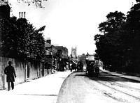 Leytonstone High Road looking east. c1900.