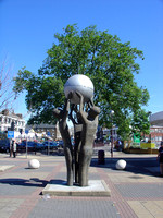 Peace Sculpture by Derrick Richardson-Lee at The Grove, Stratford.