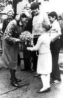 Princess of Wales. Visit to Dr Barnardo's Club, Neville Road, Forest Gate. November 1984.