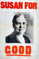 Susan Lawrence. Election poster.
