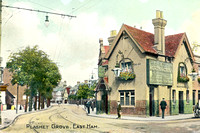 Plashet Grove, East Ham. (Green Man).