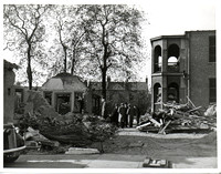East Ham Memorial Hospital Out-Patients Department. Bomb damage. 20 October 1940.